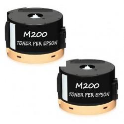2 X AL-M200 Toner per Epson Workforce