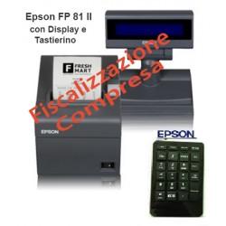 Epson FP 81 II, RT, 80 mm, Stampante Fiscale, Tastiera, Display, Venduta FISCALIZZATA