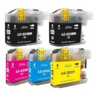LC223 Series Cartucce per Brother Kit 5 Pezzi
