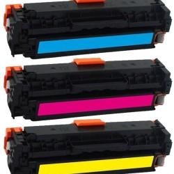 KIT 3 COLORI CB541-2-3 Toner per HP